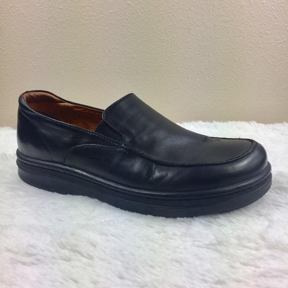 Birkenstock Footprints Black Leather Loafers 10